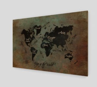 Aperçu de Map of the World art print