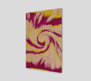 Aperçu de Bright Pink Yellow Swirl Abstract