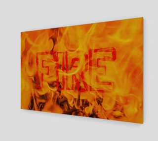 Five Elements Set - Fire Wall Art Poster Text 1 preview
