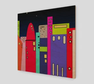 """Space City Poster Wall Art 12"""" x 12"""" preview"""