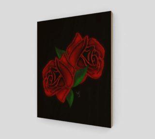Aperçu de Two Roses Modern Goth Art by Tabz Jones