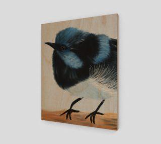 """Blue Wren Wall Art  16"""" x 20"""" preview"""