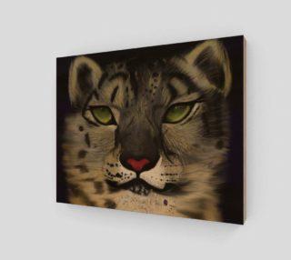 "Snow Leopard Wall Art 10"" X 8"" preview"