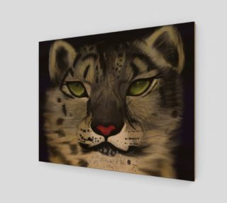 "Snow Leopard Wall Art 20"" x 16"" preview"