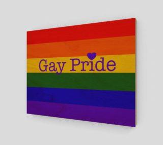"Gay Pride Love Wall Art 14' x 11"" preview"