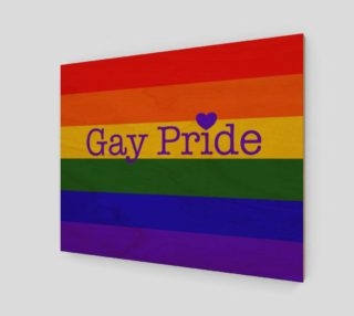 """Gay Pride Love Wall Art 20"""" x 16"""" preview"""