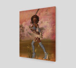 Aperçu de Warrior Woman Fantasy Art Print by Tabz Jones
