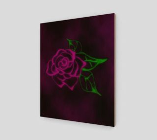 Aperçu de Fractal Rose fantasy art print by Tabz Jones
