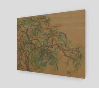 """Pine-tree branch"", pastel drawing preview"