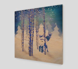 Blue Winter Snow Forest Fox Animal  preview