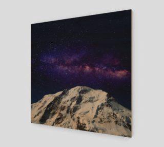 Snow + Galaxy Art Print preview
