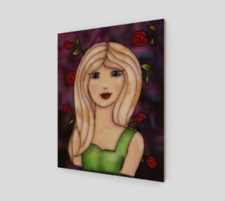 Rose fantasy art print by Tabz Jones preview
