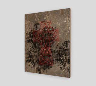 Grunge Cross Gothic Art Print by Tabz Jones preview