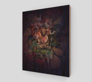 Buddha Meditation Collage Art Print preview