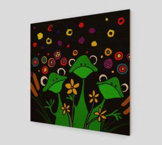 Aperçu de Funny Tree Frogs Abstract Art