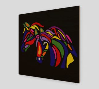 Aperçu de Colorful Horses Abstract Art