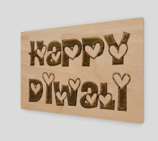 Aperçu de Festival of Lights Happy Diwali Greeting Typography Art Print