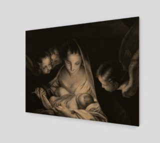 The Nativity, Birth of Jesus, Mother Mary and Angels Credit Wellcome Library London preview