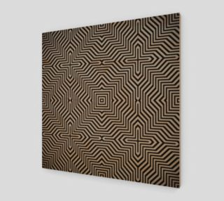 Minimal Geometrical Optical Illusion Style Pattern in Black & White  preview