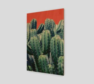 Cactus on coral Wood print 2:3 preview