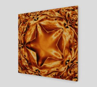 Elegant Shiny Copper Gold Star Wall Art preview