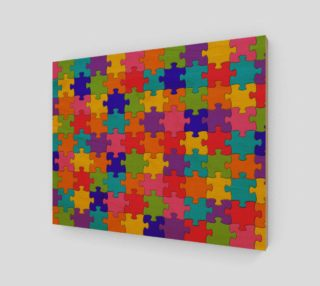Aperçu de Funny Colorful Jigsaw Puzzle Pieces