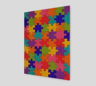 Aperçu de Funny Colorful Jigsaw Puzzle Pieces