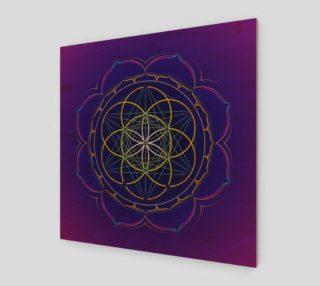 Seed of Life & Metatron's cube mandala preview