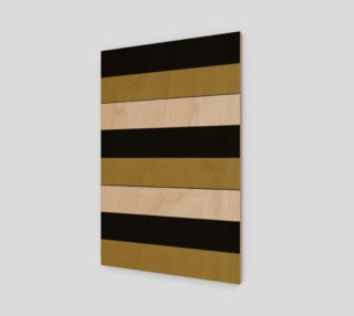 Aperçu de Elegant Black White Brown Gold Stripes Pattern