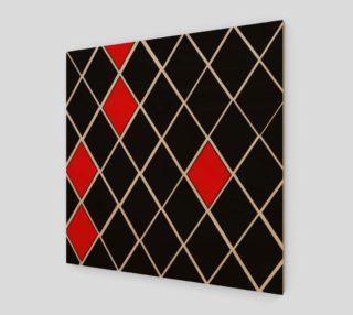 Black White Red Diamonds Pattern preview
