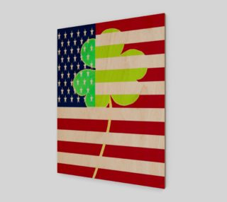 St. Patrick's Day Irish Shamrock Clover American Flag preview