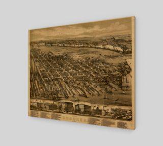Aperçu de Hoboken, NJ Vintage Map