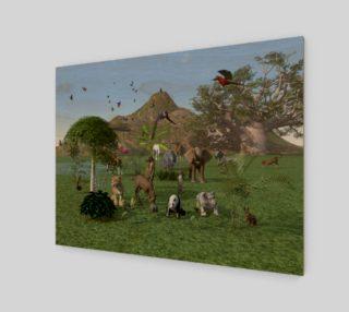 Aperçu de An exotic wild animal scene