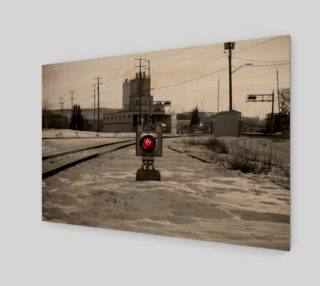 Train Track Signal Light Wall Art preview