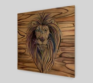 Lion Print on Wood preview