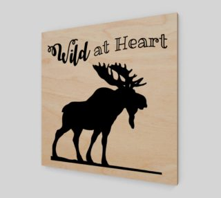 Aperçu de Wild at Heart-Moose Wall Art
