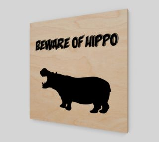 Beware of Hippo Wall Art preview