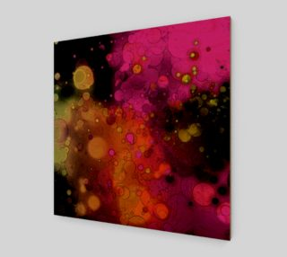 Unique Abstract Art - Pink, Orange, Black - Funky preview