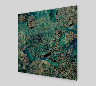 Aztec blues2 Wall Art poster preview
