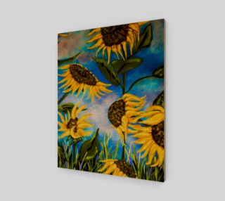Vibrant Sunflowers 16 x 20 preview