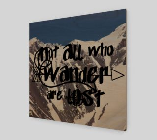 "Aperçu de Adventure ""snow"" wood print"