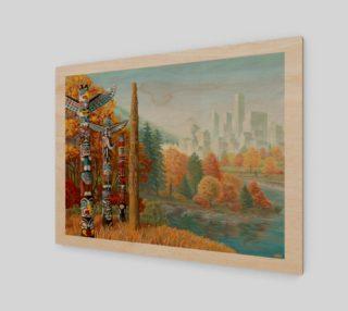 Aperçu de Vancouver Canada Landscape Painting - Two Worlds Collide