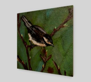 Chickadee Bird 2 Wall Art preview