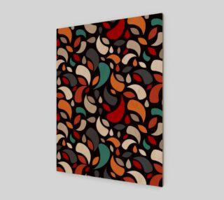 Aperçu de Colorful Leaves And Geometric Shapes