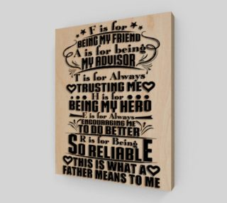 Father's Day Wood Plaque preview