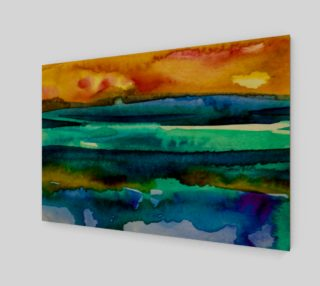 Watercolor Sunrise Wall Art preview
