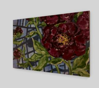 Burgundy Peony Wall Art preview