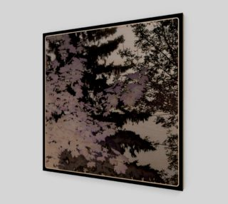 Purple Trees Silhouette Wall Art preview