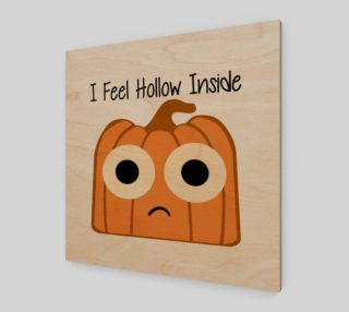 I Feel Hollow Inside-White Background Wall Art preview