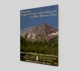 Aspen to Crested Butte art print preview